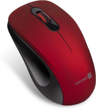 """CONNECT IT """"MUTE"""" bezdrátová optická tichá myš, USB, (+ 1x AA baterie zdarma), červená"""