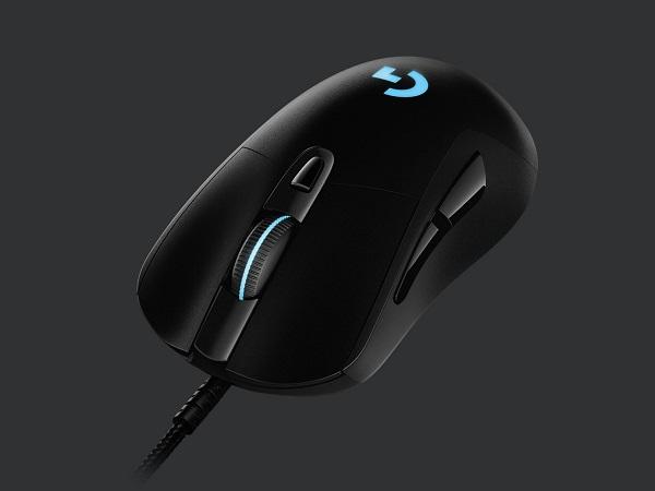 Logitech myš Gaming G403 Hero - 6 tlačítek/podsvícená/drátová/100 - 16 000 DPI/černá