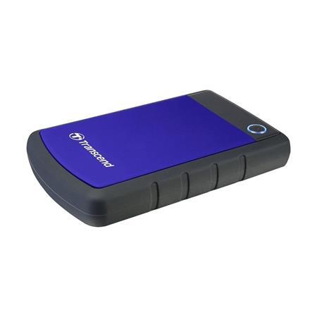 """TRANSCEND 4TB StoreJet 25H3B, 2.5"""", USB 3.0 (3.1 Gen 1) Externí Anti-Shock disk, tenký profil, černo/modrý"""