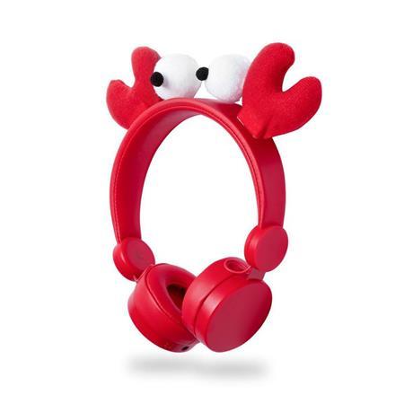 Nedis HPWD4000RD - Drátová Sluchátka | 1,2m Kulatý Kabel | Na Uši | Odpojitelná Magnetická Ouška | Chrissy Crab | Červen
