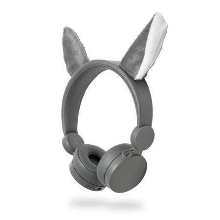Nedis HPWD4000GY - Drátová Sluchátka | 1,2m Kulatý Kabel | Na Uši | Odpojitelná Magnetická Ouška | Willy Wolf | Šedá