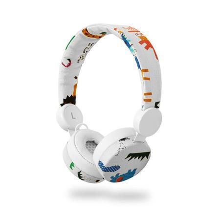 Nedis HPWD4104WT - Drátová Sluchátka | 1,2m Kulatý Kabel | Na Uši | Safari | Bílá