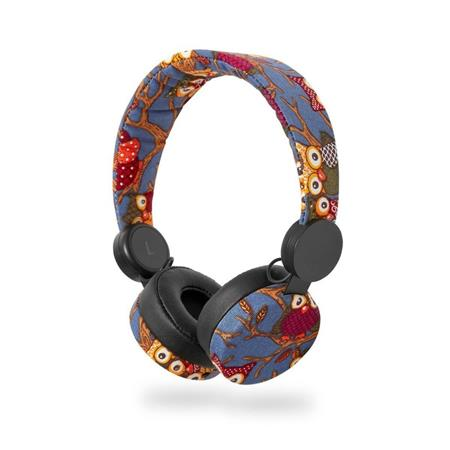 Nedis HPWD4101BK - Drátová Sluchátka | 1,2m Kulatý Kabel | Na Uši | Sova | Černá