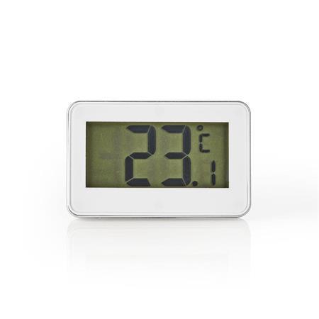 Nedis KATH101WT - Teploměr do Lednice | -20 až +50 °C | Digitální Displej