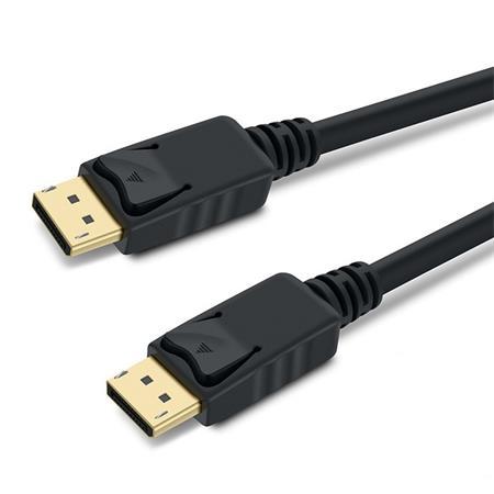 PremiumCord DisplayPort 1.3 přípojný kabel M/M, zlacené konektory, 2m