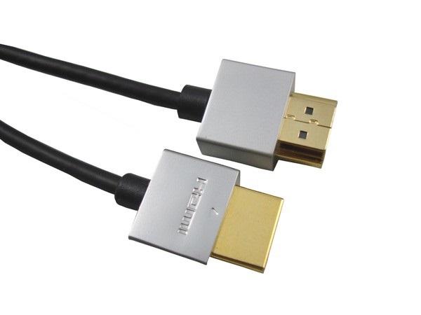 PremiumCord Slim HDMI High Speed + Ethernet kabel, zlacené konektory, 1,5m