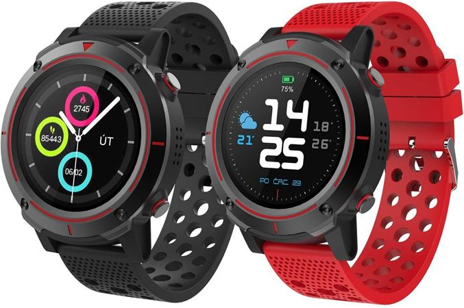 "iGET ACTIVE A8 - Všestrané chytré hodinky, 1,3"" IPS LCD displej 240x240, BT 4.0 , 32MB RAM/128MB ROM, GPS, 500 mAh"
