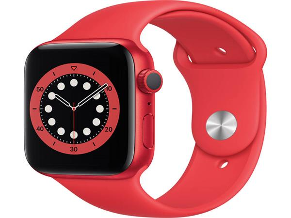 Apple Watch Series 6 44mm (PRODUCT) Red se sportovním řemínkem