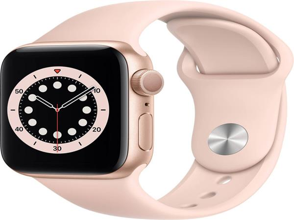 Apple Watch Series 6 44mm Rose Gold se sportovním řemínkem
