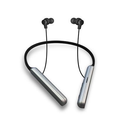 Platinet BLUETOOTH V4.2 sluchátka s mikrofonem, do uší, černá, sportovní popruh, microSD slo