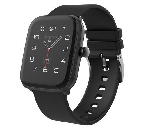 """iGET FIT F20 Black - Chytré hodinky 1,4"""" IPS, 240x240 plně dotykový, BT 5.0, 160 mAh, 128kB RAM, 64MB ROM"""