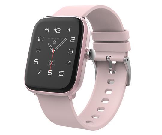 """iGET FIT F20 Pink - Chytré hodinky 1,4"""" IPS, 240x240 plně dotykový, BT 5.0, 160 mAh, 128kB RAM, 64MB ROM"""