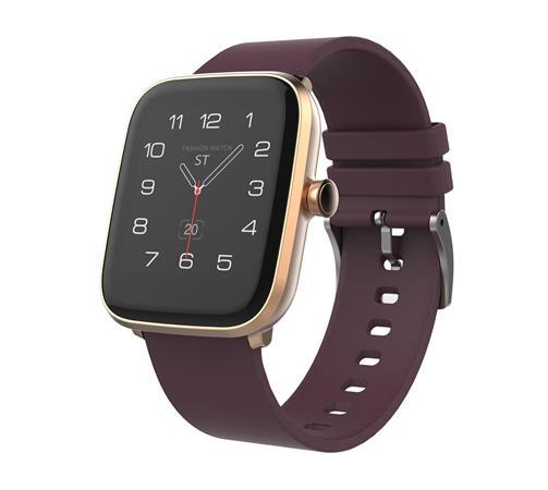 """iGET FIT F20 Gold - Chytré hodinky 1,4"""" IPS, 240x240 plně dotykový, BT 5.0, 160 mAh, 128kB RAM, 64MB ROM"""