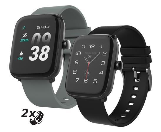 """iGET FIT F25 Black - Chytré hodinky 1,4"""" IPS, 240x240 plně dotykový, BT 5.0, 160 mAh, 128kB RAM, 64MB ROM"""