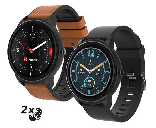 """iGET FIT F60 Black - Chytré hodinky 1,3"""" IPS, 240x240 plně dotykový, BT5.0, 200 mAh, 128kB RAM, 256kB ROM"""