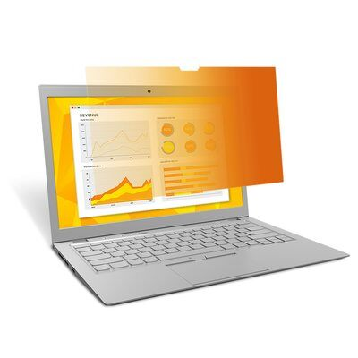 3M™ Gold Privacy Filter for 156 Laptop with COMPLY™ Attachment System (GF156W9B) 16:9