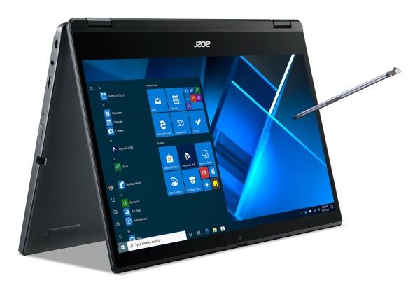 """AcerTravelMate Spin P4 (TMP414RN-51-72QA) i7-1165G7/16GB+N/512GB SSD+N/A/Intel Xe Graphics/14"""" FHD IPS Touch/BT/W10 PRO/Blue"""