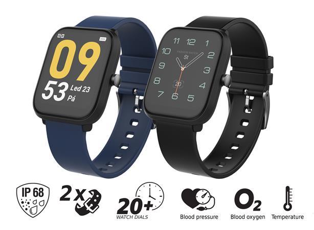 """iGET FIT F45 Black - Chytré hodinky 1,7"""" IPS, 240x280 plně dotykový, BT 5.0, 240 mAh, 128kB RAM, 128 MB ROM"""