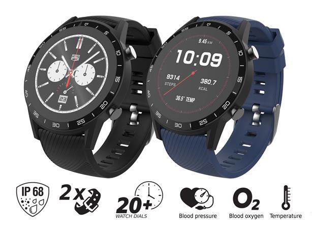 """iGET FIT F85 Black - Chytré hodinky 1,3"""" IPS, 240x240 plně dotykový, BT 5.0, 240 mAh, 128 kB RAM, 64 MB ROM"""