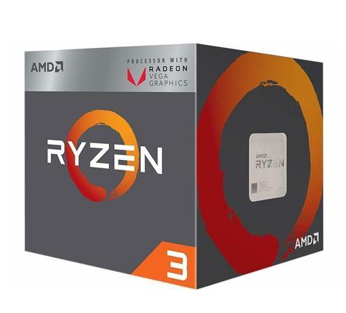 AMD cpu Ryzen 3 3200G AM4 Box (4core, 4x vlákno, 3.6GHz / 4.0GHz, 4MB cache, 65W), Radeon Vega 8, chladič Wraith Stealth