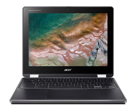 """Acer Chromebook Spin 512 (R853TNA-P8UR) Pentium N6000/4GB+N/A/eMMC 64GB+N/A/12"""" HD Touch IPS LCD/MIL-STD/Chrome/Černá"""