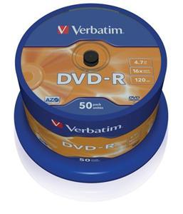VERBATIM DVD-R AZO 4,7GB, 16x, spindle 50 ks