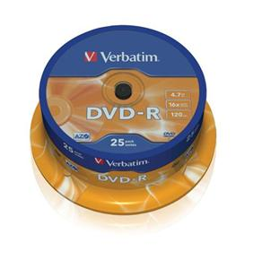 VERBATIM DVD-R AZO 4,7GB, 16x, spindle 25 ks