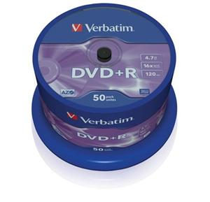VERBATIM DVD+R AZO 4,7GB, 16x, spindle 50 ks