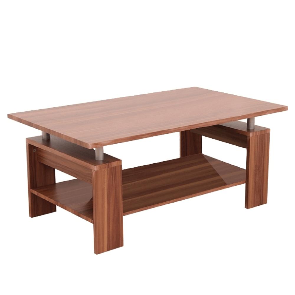 TEMPO KONDELA Konferenčný stolík, svetlý orech/strieborná, ROKO