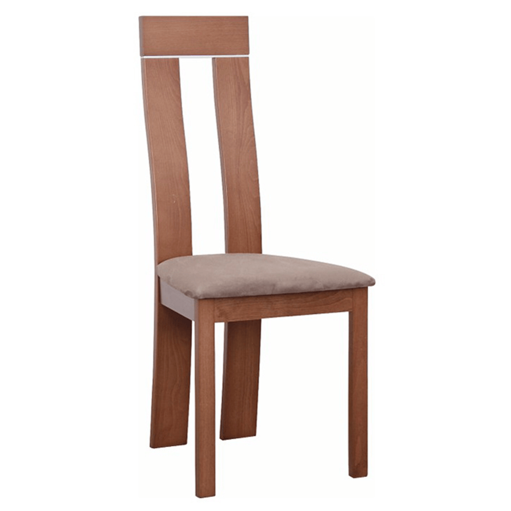 TEMPO KONDELA Drevená stolička, čerešňa/látka hnedá, DESI