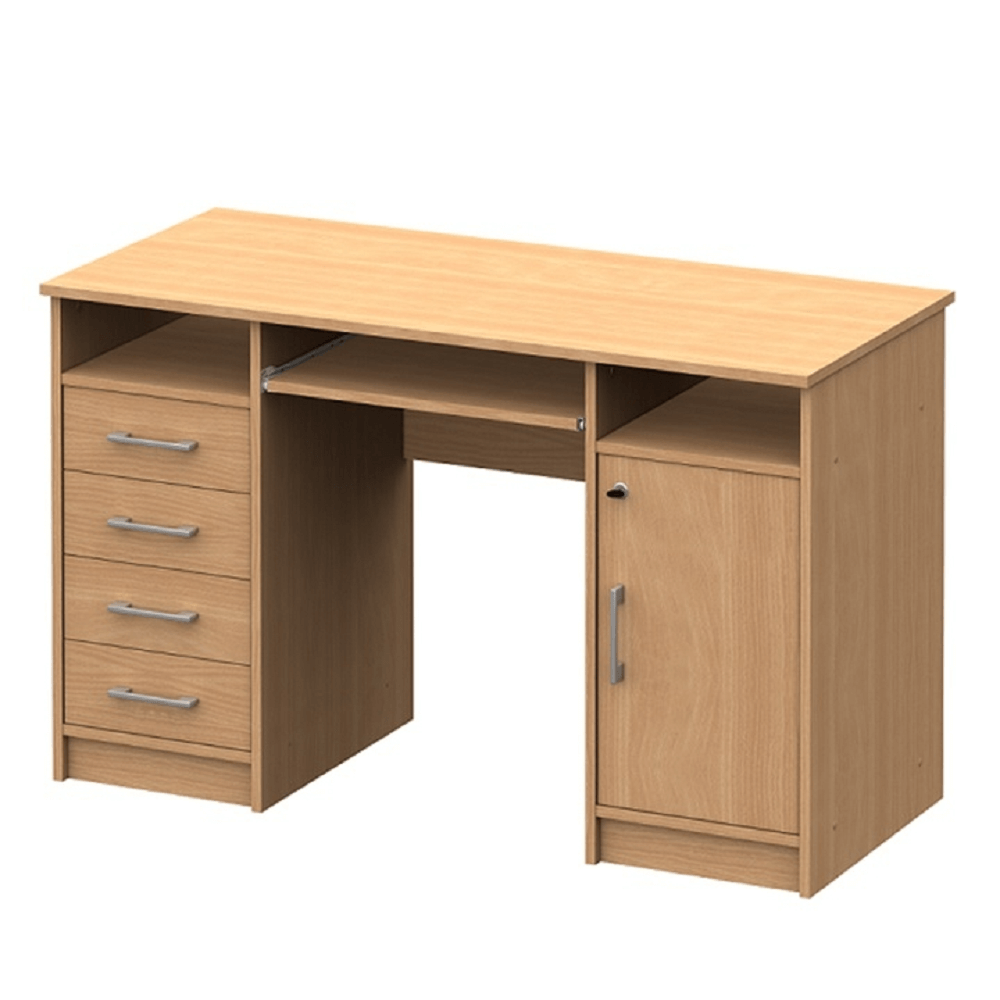 TEMPO KONDELA PC stôl, buk, B9 NEW