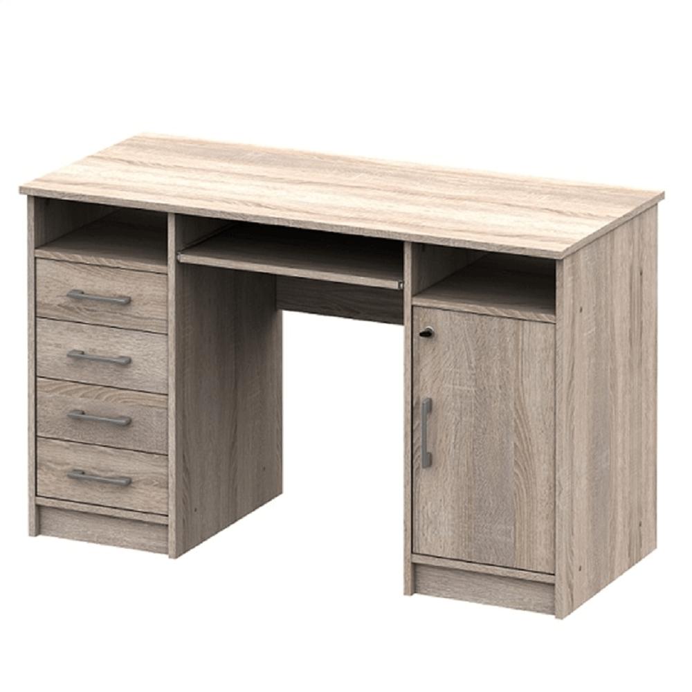 TEMPO KONDELA PC stôl, dub sonoma, B9 NEW
