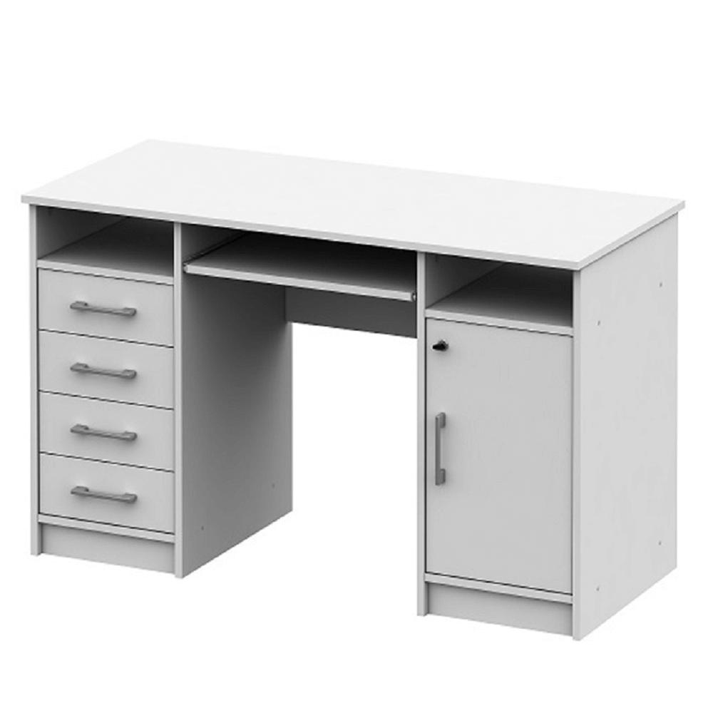 TEMPO KONDELA PC stôl, biela, B9 NEW
