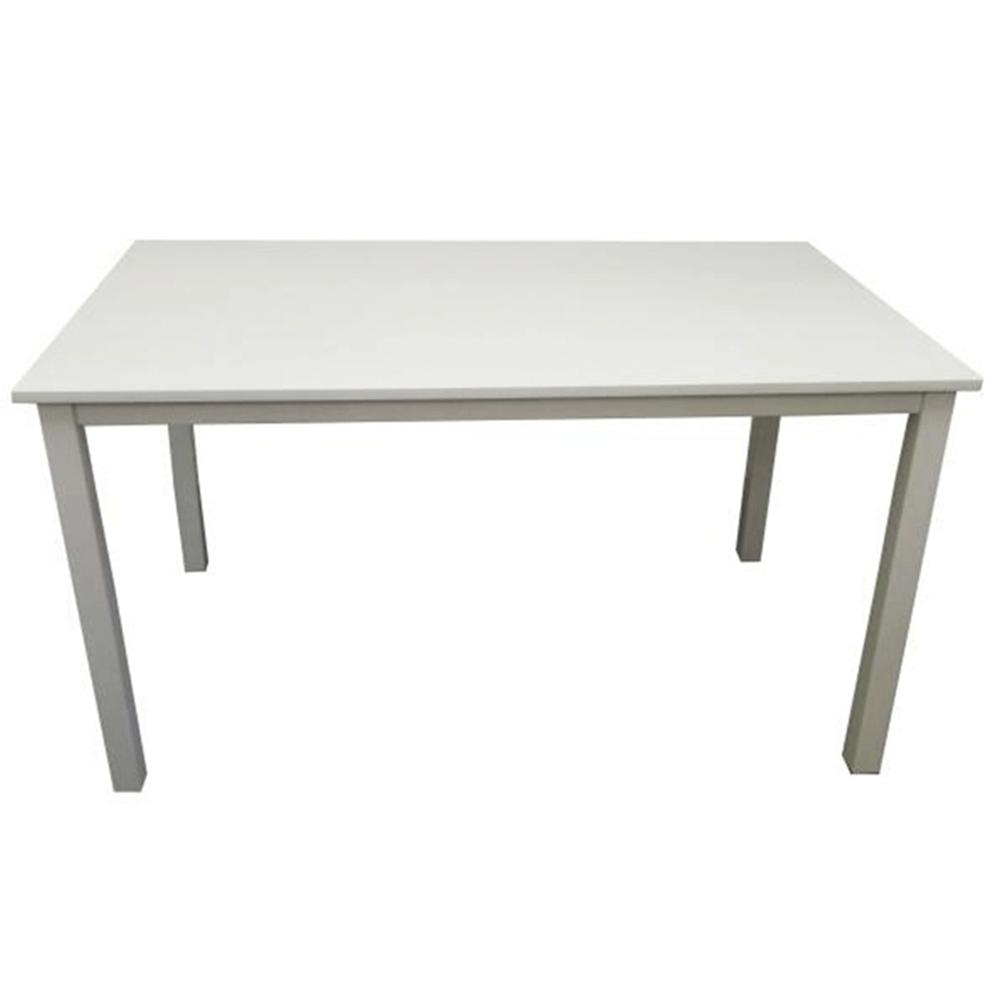 TEMPO KONDELA Jedálenský stôl, biela, 110 cm, ASTRO NEW