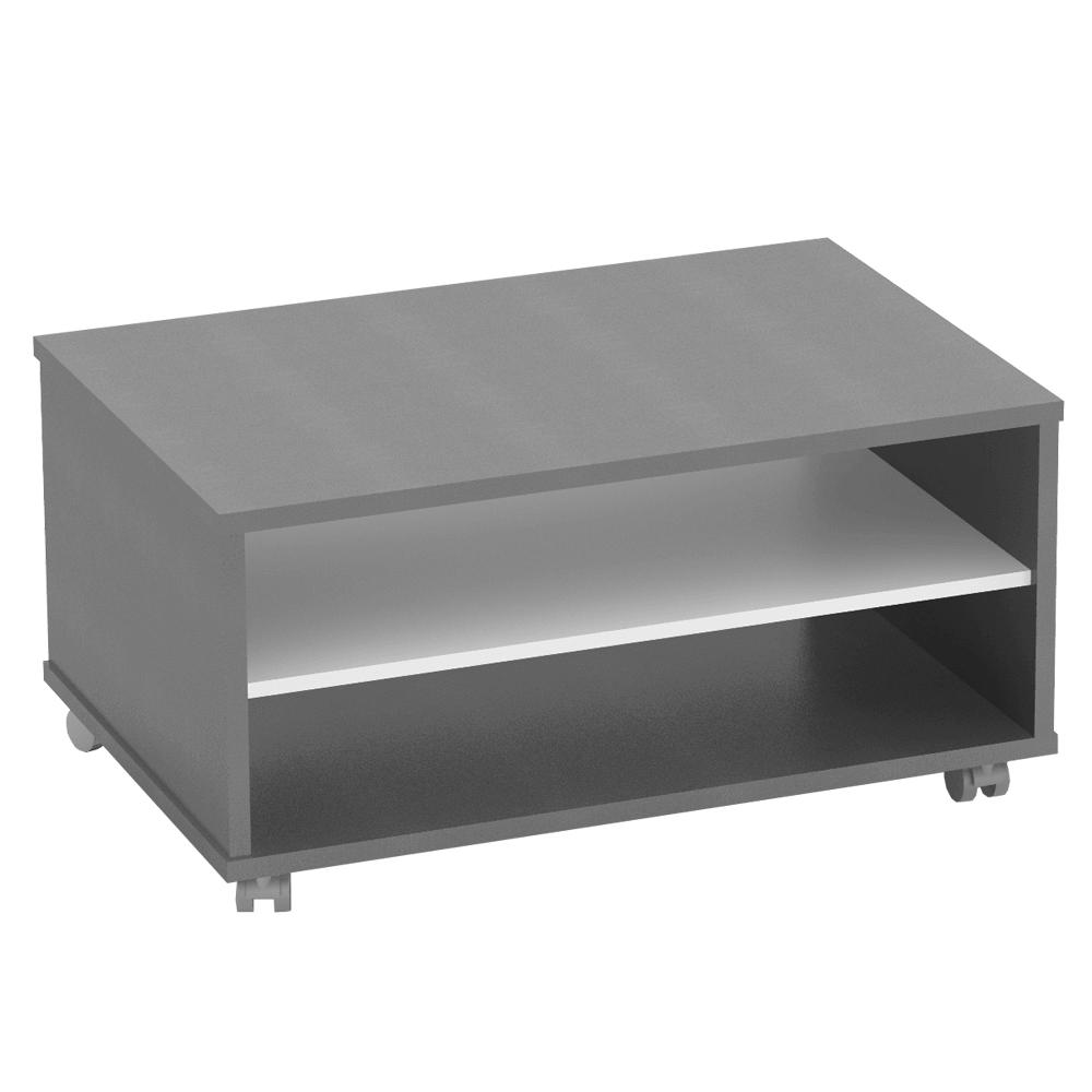 TEMPO KONDELA Konferenčný stolík, grafit/biela, RIOMA TYP 32