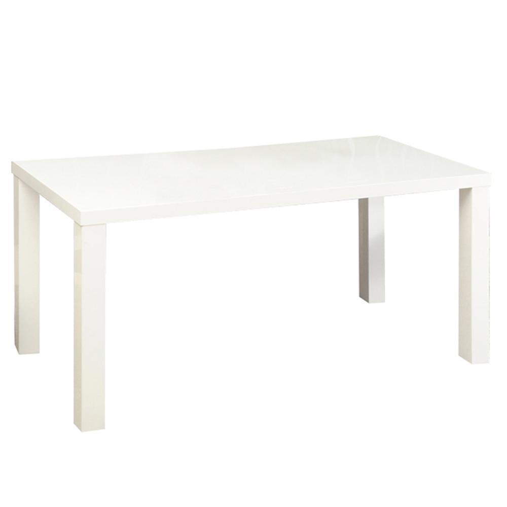 TEMPO KONDELA Jedálenský stôl, biela vysoký lesk HG, ASPER NEW TYP 2