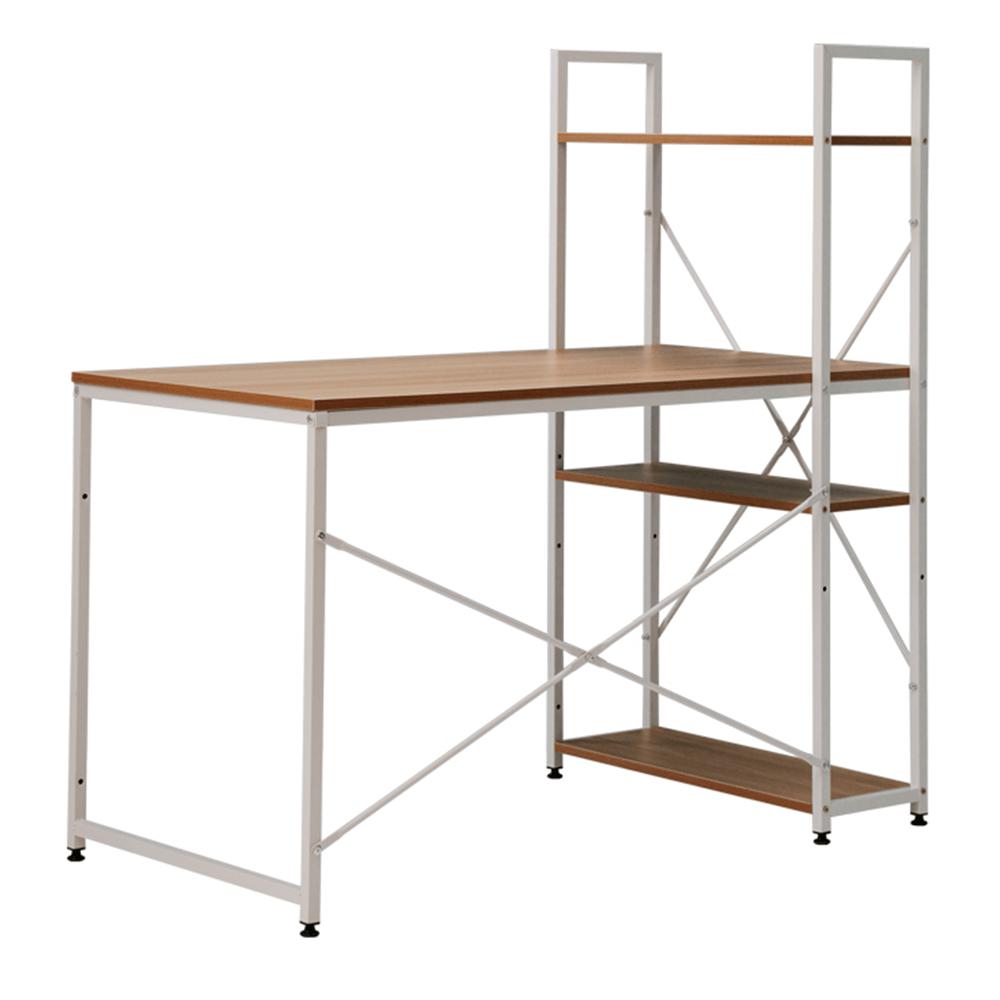 TEMPO KONDELA PC stôl/viacúčelový praktický stôl, dub/biela, VEINA