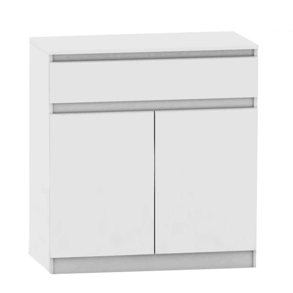 TEMPO KONDELA 2 dverová komoda s jedným šuplíkom, biela, HANY NEW 007