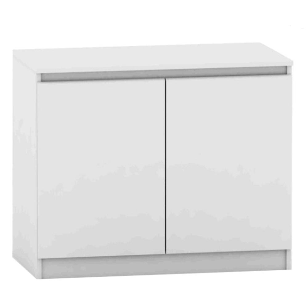 TEMPO KONDELA 2 dverová komoda, biela, HANY NEW 008