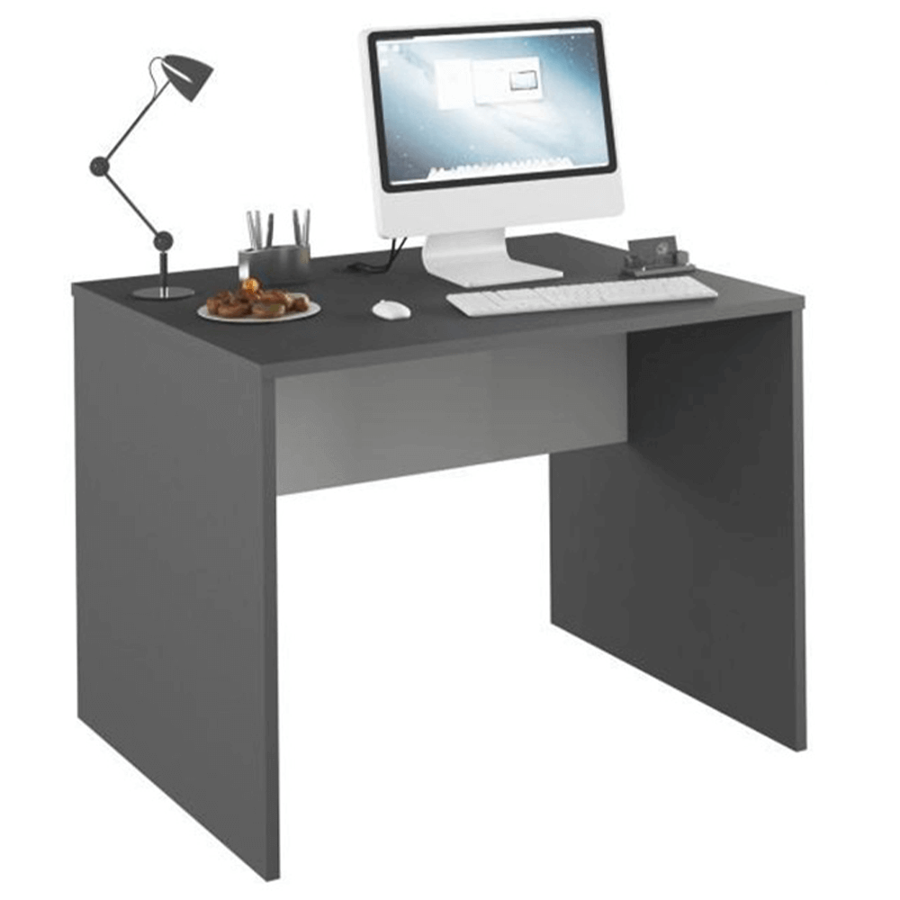 TEMPO KONDELA PC stôl, grafit/biela, RIOMA NEW TYP 12