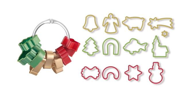 Vykrajovače vianočné DELÍCIA, 13 ks
