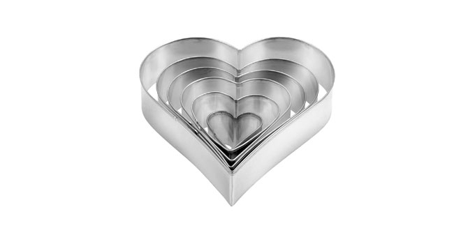 Vykrajovače - srdce DELÍCIA, 6 ks