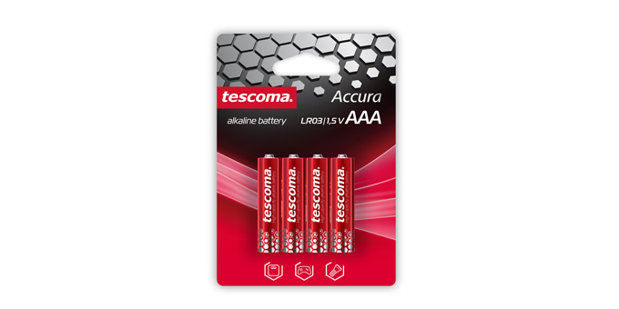 Alkalická AAA batéria ACCURA, 4 ks