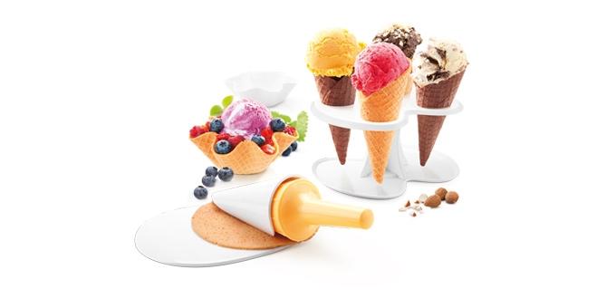 Súprava na zmrzlinové kornútiky a košíčky TESCOMA DELLA CASA