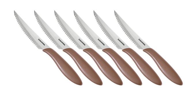 Nôž steakový PRESTO 12 cm, 6 ks, hnedá