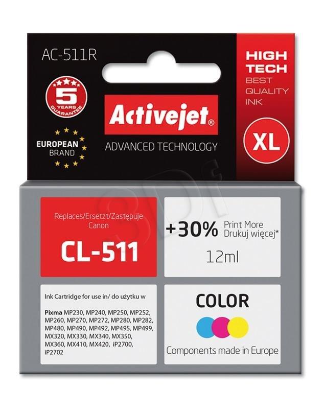 Atrament ActiveJet pre Canon CL-511 Color AC-511 9ml