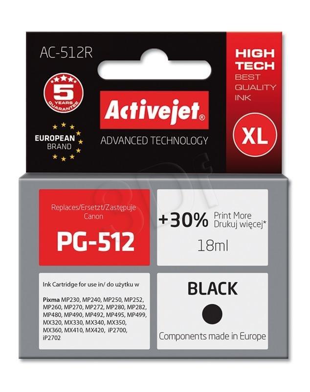 Atrament ActiveJet pre Canon PG-512 Black AC-512R