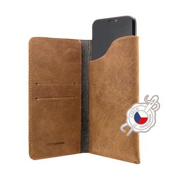FIXED Kožené puzdro Pocket Book pre Apple iPhone 6/6S/7/8, hnedé