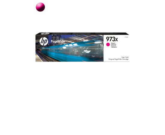 HP Cartridge PageWide F6T82AE 973X Magenta 7000str
