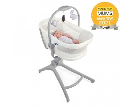 CHICCO Postieľka/lehátko/stolička Chicco Baby Hug 4v1 - White Snow